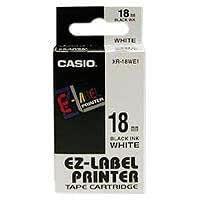 Casio XR-18WE1 Label Printer Tape (Black and White)