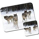 Lobo Lobos alfombrilla de ratón/Pad y posavasos Grey Wolf Howling