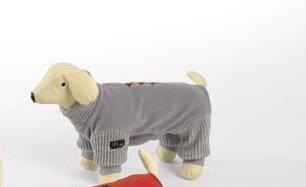 Dog Line Hundeoverall Star Fleeceoverall für Hunde Hundeanzug (43, grau) -