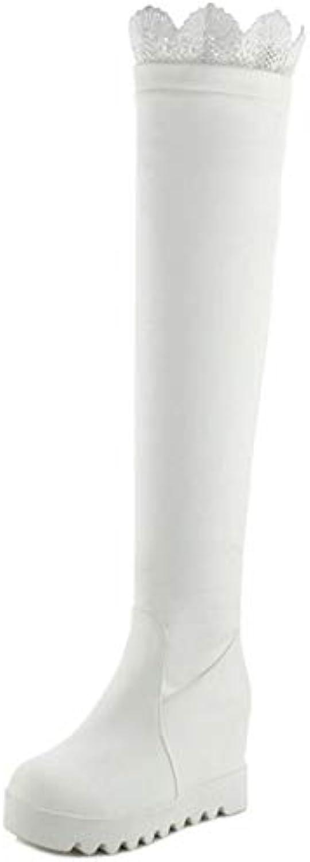 RAZAMAZA Femmes Bottes Mode Longue Bottes Femmes Talon Compensé A EnfilerB07K1L84MWParent c5246b