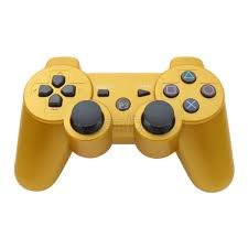 AMGGLOBAL® Portable Wireless Rechargable Bluetooth Gamepad Remote Joystick Controller Gamepad For Playstation 3 PS3 GOLD
