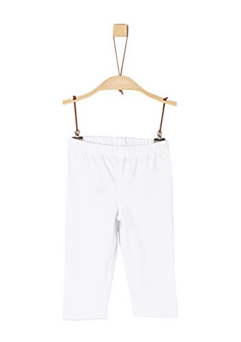 s.oliver 58.906.75.5003 leggings, bianco (white 0100), 104 (taglia produttore: 104/reg) bambina
