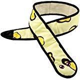 Pawaboo Quietschspielzeug für Haustier, Plüschspielzeug Weiche Schlange Stil Haustier Spielzeug Lange für Hunde und Katze, Gelb -