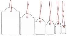 Herma 6903 Hänge-Etiketten (mit Faden, 18 x 28 mm) 1000 Stück weiß