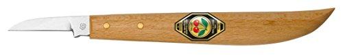 Preisvergleich Produktbild Kirschen 3358000 Kerbschnitzmesser/Schnitzmesser ; Messer mit rundem Rücken und gerader Schneide aus speziellem Kohlenstoffstahl, Weißbuchenheft ; Härte: 59-61 HRc