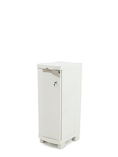 Plastiken Media Garderobenschrank Space Saver Breite 35cm Farbe beige (35cm x 45cm tief x...
