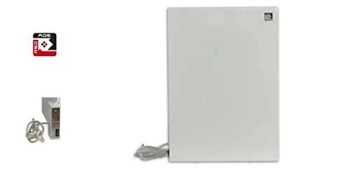 RED AGE Stahl Infrarotheizung ISH 250 400x560x12 mm ✓ rahmenloses Design ✓ 250 Watt ✓ bis zu 5-8 m² ✓ für Steckdose (ohne Thermostat)