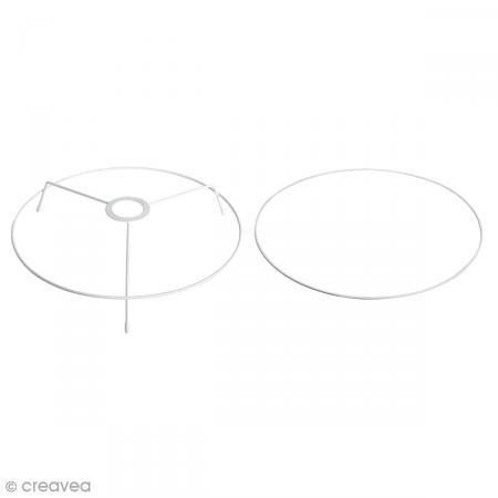 Rayher 23091000 Base Lampe en métal (Lot de 2) 3 25 x 3 25 x 0 55 cm Diamètre 30 cm en métal blanc