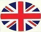 UK United Kingdom Union Jack Flag Oval External Car Bumper