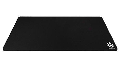 SteelSeries QcK XXL - Alfombrilla de ratón de juego, tela, base de caucho, compatible con ratón láser y óptico, color negro, 900mm x 400mm