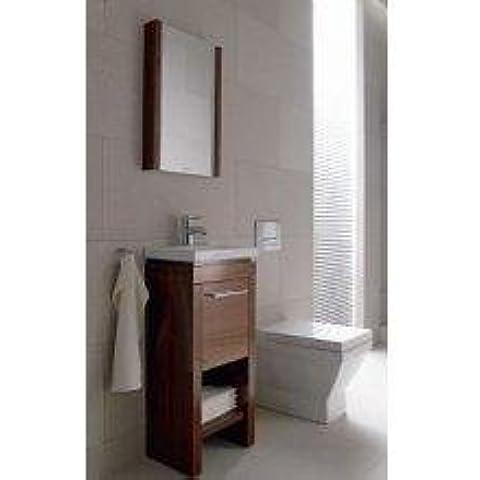 Duravit lavabo debajo del gabinete de pie. 2nd Floor 420 x 580 x 860 -880 millimeter 1 cajón, para 049160, de colour blanco hochgla