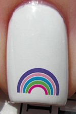 Arc en ciel multicolore - Stickers pour ongles de YRNAILS