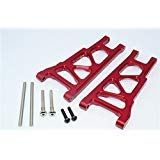 G.P.M. Traxxas Slash 4X4 / Stampede 4X4 VXL / Rustler 4X4 VXL Tuning Teile Aluminium Front Or Rear Lower Arm - 1Pr Set Red