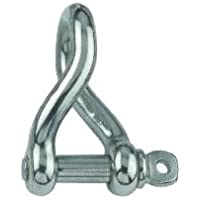 AISI 316 Marine Grade Stainless Steel 10mm Twisted Dee Chain Shackle