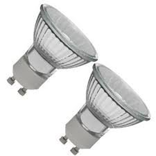 10 x GU10 35 Watt Halogen Light Bulbs