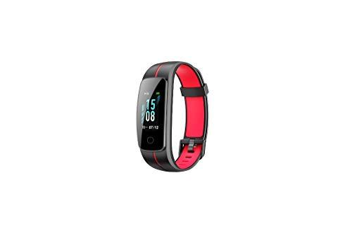 WAOTIER Fitnesstracker Sportmodus Fitnessarmband Smartwatch Whatsapp Anruf Benachrichtigung Pulsmesser Für IOS Android Schrittzähler Fernsteurung Aktivitätsarmband Kalorienzähler (Schwarz Rot)