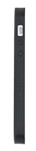 "Solo Pelle Iphone SE / 5 / 5S Case Lederhülle Ledertasche Backcover "" Flex CC "" aus echtem Wildleder in Schwarz mit Kartenfach Blau"