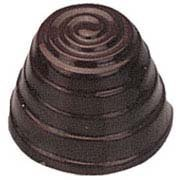 Chocolate Mold Spiral Cone 28mm Diameter x 21mm High, 40 Cavities by Cabrellon 28 Chocolate Mold