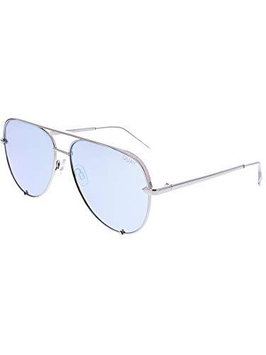 Quay Australia Unisex-Erwachsene HIGH Key Sonnenbrille, Silber (Silver/Blue), 150