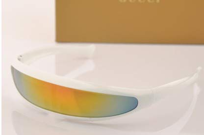TECH-FUN X-Men Persönlichkeit Sonnenbrillen Laser Space Robot Siamese Mercury Lens Sonnenbrillen (White frame + color mercury)