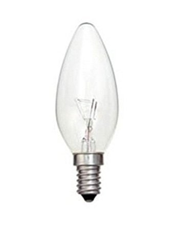 Acorn 10 pack 25W 240V Clear Candle Small Edison Screw