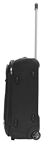 Packenger Lite Traveller Koffer Größe L in Schwarz. Die Abmessungen sind  63x43x24cm. - 2