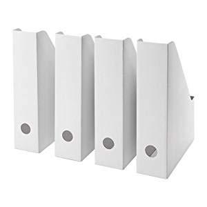 IKEA Fluns Zeitschriftensammler in weiß. Set mit 8 Stück. weiß