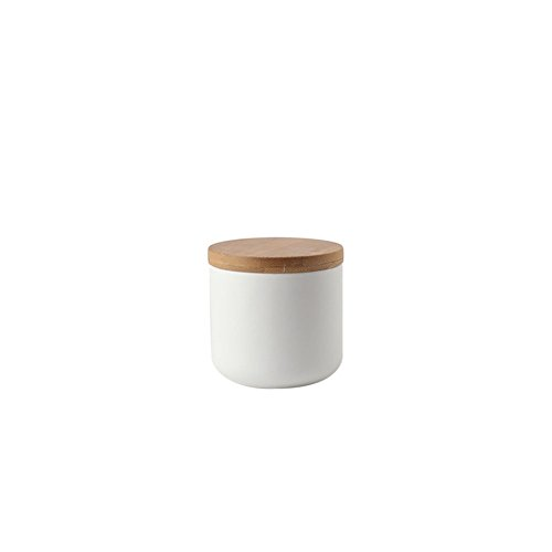 Nordic Style versiegelt Keramik Vorratsdose Weizen Stroh Tee Kaffee Zucker Kanister Küche Vorratsdosen Einmachgläser Töpfe Behälter mit Deckel Flasche für Kaffee Tee Caddy, weiß, Größe S