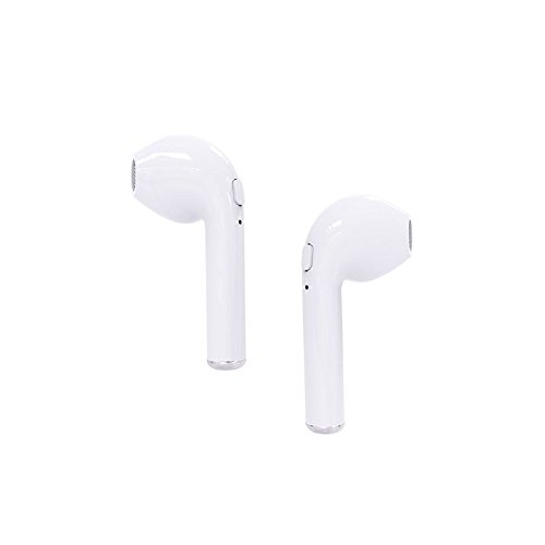 Cewaal Auricular Bluetooth V4.2, Auriculares inalámbricos Mini Twins Auriculares estéreo HD Manos libres con micrófono para iPhoneX Blanco