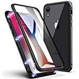 Coque iPhone XS Max, ZHIKE Coque Adsorption Magnétique Avant et Arrière Verre...