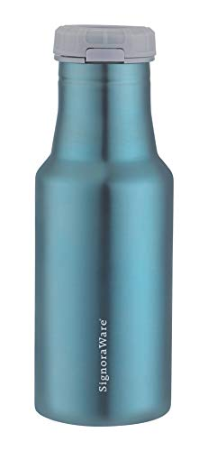 SignoraWare Clarion Stainless Steel Vacuum Flask Bottle, 500 ml, Green