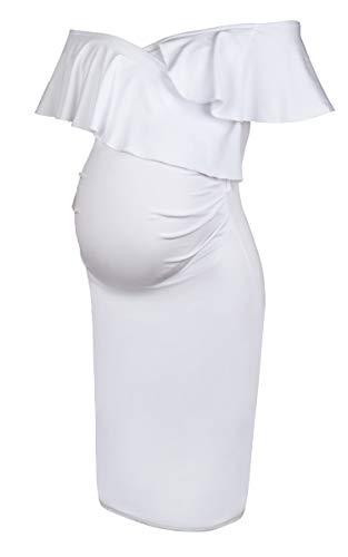 Molliya Vestito Premaman da Donna Eleganti Incinte Increspatura Abito da Cocktail Cerimonia Estivo
