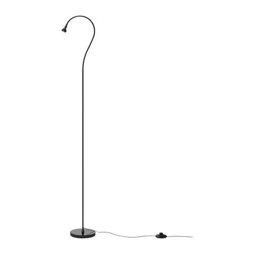 IKEA LED-Standleuchte JANSJÖ, Schwarz, verstellbarer Arm (4.2W)