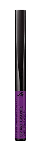 Manhattan Lip Art Graphic 2-in-1 Lip Liner und Liquid Lipstick für samtig-weiche Lippen, Fb. 160...