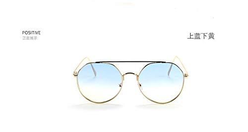 Sonnenbrille,Neue Aviator Sonnenbrille Jelly Farbe Sonnenbrille Metall Fashion Trend Männer Und Frauen Retro Sonnenbrille Blauen Gradienten