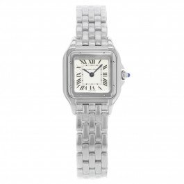 Cartier Panthere WSPN0006 Square 22mm Silver Dial Steel Quartz Ladies Watch
