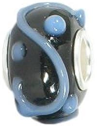 Amore & Baci: Silver & Murano Bead Charm: 12,5mm