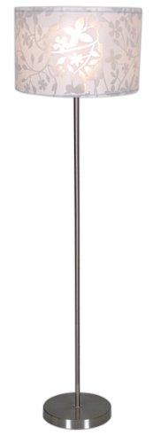Naeve Leuchten 2002223 Lampadaire Plastique, E27, 60 W, Chromé/argenté