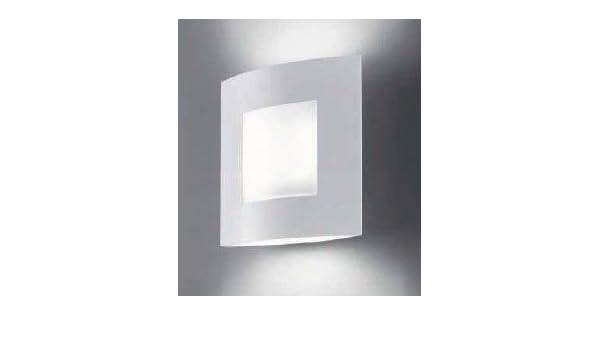 Omnia applique luci bianco opaco vetro satinato amazon