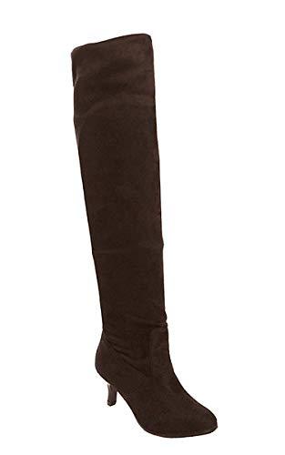 Minetom donna inverno overknee stivali scamosciato scarpe scarpe a punta lungo stivali moda coscia alto stivali marrone eu 40