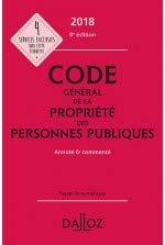 Code général de la propriété des personnes publiques 2018 annoté et commenté - 8e éd.