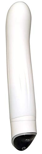 Feuchtalarm - Vibrator weiß - leiser Stimulator mit 7 Vibrationsstufen - Vibe mit seidiger Soft-Touch-Oberfläche Massagestab Luststab