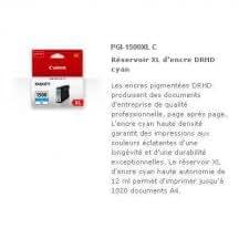 Cartouche Canon PGI-1500XL C - Cyan Cartouche Canon Maxify MB2050