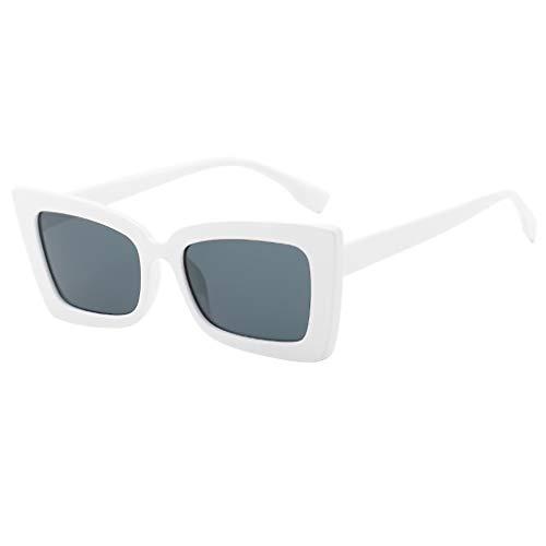 YULAND Sonnenbrille, Unisex Mode Retro Brille Sportbrille, Erwachsene Unregelmäßige Augen Sonnenbrille Retro Eyewear Art Strahlenschutz