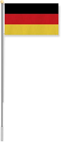 normani Fahnenmast 6,80 oder 7,50 Meter Höhe mit verschiedenen Flaggen zur Auswahl Farbe Deutschland Größe 6.8m Höhe
