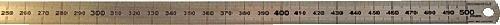 Rumold 323705 Stahllineal 50 cm 50cm silber rostfreier Edelstahl