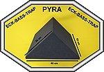 Acústica triangular, 34x 34x 48cm, antracita negro, FSE (ignífuga según mvss302), espuma acústica
