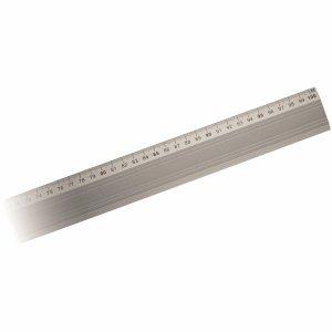 Aristo Aluminium-Lineal mm-Teilung 100cm Gummiauflage