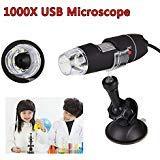 CXZX Tragbares USB-Mikroskop-Saug-elektrisches USB-Mikroskop, Handgestell-Werkzeug-Licht 8 führte Birnen 1000X