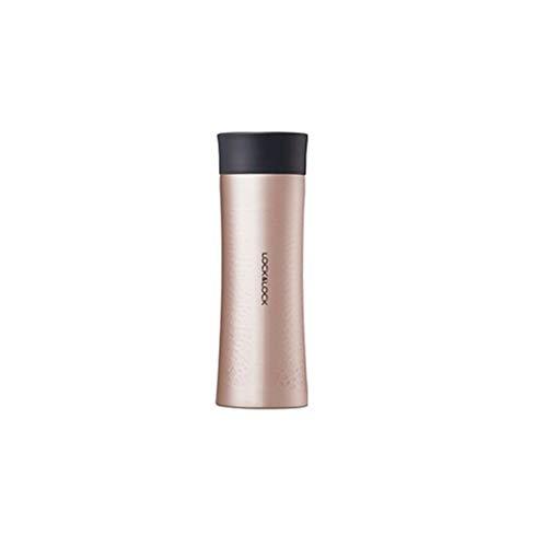 LOCK & LOCK Thermobecher to go - DIAMOND TUMBLER - Isolierflasche Edelstahl auslaufsicher - Thermo Isolierbecher für Kaffee, Tee & Kaltes - 300ml Gold-Pink